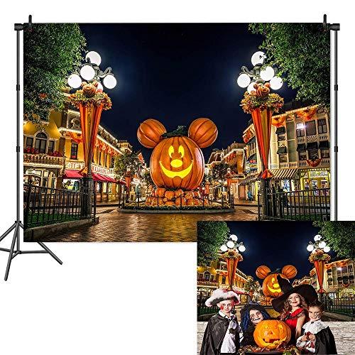 Halloween Pumpkin Head Backdrops Halloween Nightmare Party Photography Background Disney Halloween Birthday Backdrop Baby Shower Halloween Photo Studio Props Banner 7x5ft