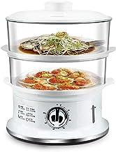 DYB Cuiseur à Vapeur électrique, paniers empilables à Deux Niveaux de cuiseur à Vapeur de légumes avec minuterie