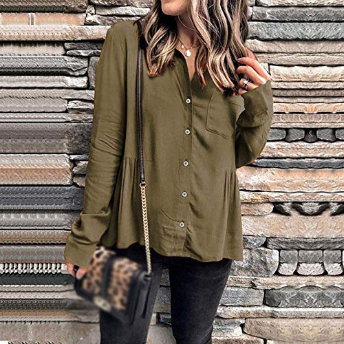 EIJFKNC Jacke Mantel Mode Frauen Motorrad Kunstleder Jacken Damen Herbst Winter Schlank Reißverschluss Biker Streetwear Mantel Bomberjacke, Khaki, M