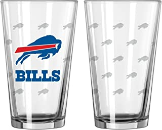 Boelter Brands NFL Buffalo Bills Pint GlassSatin Etch 2 Pack, Clear, One Size