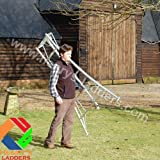 Henrys Tripod Garden Ladders with Built-in Platform by Henchman 8' Semi (1 Leg) Adjustable....
