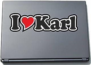 INDIGOS UG - 'I Love Serce' Naklejka Skóra laptopa 210 mm - I Love - I Love Karl' - Laptop netbook komputer - naklejka z i...