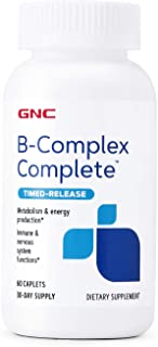 Sponsored Ad - GNC B-Complex Complete, Timed Release, 60 Caplets, Supports Immune and Nervous System Functions