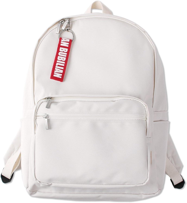 Bubilian BTBB Backpack   Korean Street Brand   School Bag   Travel Bag (Cream)