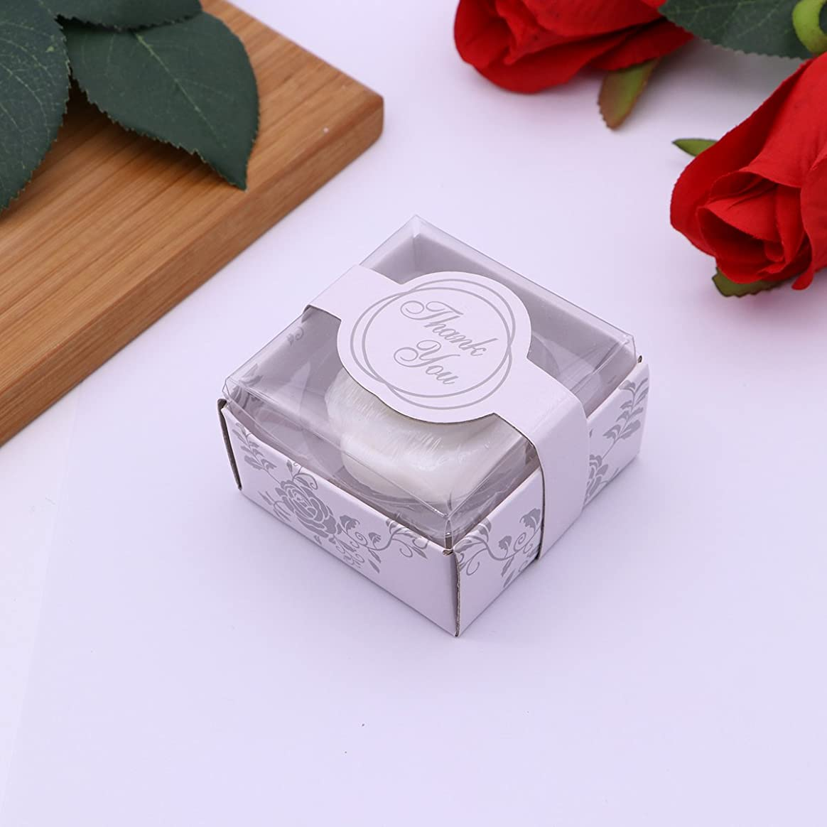 卵前書きマイナーAmosfun 手作り石鹸オイルローズフラワーソープアロマエッセンシャルオイルギフト記念日誕生日結婚式バレンタインデー(ホワイト)20ピース