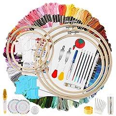 MAKEASY 205 PCS Stickerei Set,Stickerei