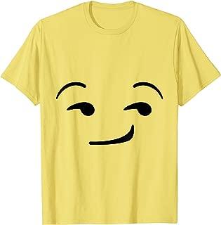 Halloween Emojis Costume Shirt Smirking Smirk Face Emoticon T-Shirt