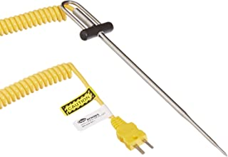Cooper-Atkins 50336-K Type K DuraNeedle Thermocouple Probe with Polyurethane Jacket Cable, -40 to Plus 500 Degrees F Temperature Range
