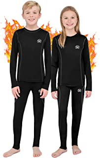 Sponsored Ad - Kids Thermal Underwear Set, Unisex Base Layer Boys Girls Youth Fleece Long John
