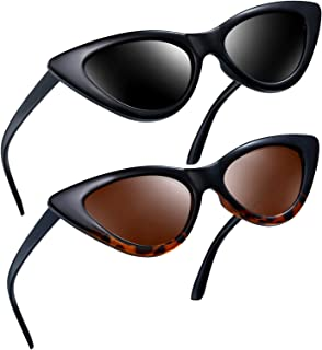 Vintage Polarized Cat Eye Sunglasses - Women Retro Cateye Sun Glasses Pointy Sunglasses E8908
