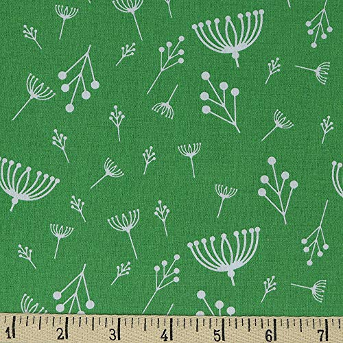Birch Organic Fabrics Charley Harper Twigs Green, Fabric by The Yard