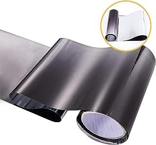 Black Gradual Color Glossy DIY Car Front Windshield Tint Shade Sun Visor Protection Film 7.8 Inch x 59 Inch