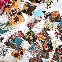 46pcs / box花植物Diy日記ステッカーアルバムラベルスクラップブッキングステッカー装飾デコステッカー学校のオフィスの文房具