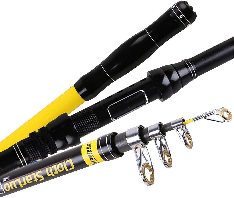 YXYH Portable Carbon Fiber Superhard Fishing Rod 2.13.6m Sea Rods Spinning Fishing Pole