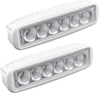 WFPOWER WF Boat Light 2 Pack, LED Marine Spotlights Waterproof, T-top Deck Dock Flood Light Bar, Work Light for Boat Accessories Pontoon Fishing Truck SUV Off-Road 12V White