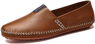 Xlin Fahren Loafers for Männer Lederschuhe Slip-on-Qualitäts-Fabrics Vegan Cozy Breathable einfaches An- und Ausziehen Low...