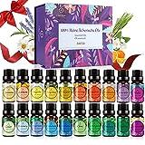 OUKZON Ätherische Öle Set - 100% Naturrein Reine Aroma Diffuser Duft Öl, 20x5ml Aromatherapie Duftöle Geschenkset für Diffuser/Luftbefeuchte/SPA/Massage,...