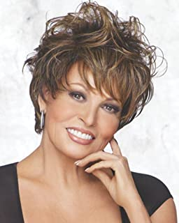 Enchant Wig Color RL11/25 - Raquel Welch Women's Wigs Wavy Classic Cut tousled Curls Heat Friendly Bundle with Comb, MaxWigs Hair Loss Booklet