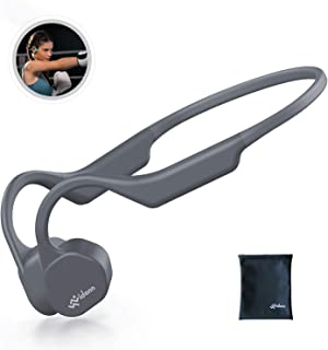 Vidonn F3 「最新版」 骨伝導イヤホン Bluetooth 5.0 ワイヤレスヘッドホン チタン合金 防水 超軽量29g こつでんどう ブルートゥース イヤホン 耳掛け式 両耳通話 スポーツ - グレー