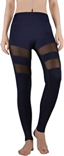Mesh Yoga Pants,4 Ways Stretch ActiveLeggings Women,Black, White, Blue Navy-Blue Tight Sport Pilates Pants