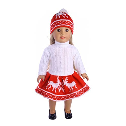0a5fbe8b3d5f 18 inch Doll Clothes and Accessories Mingfa 3PC Cute Sweater Skirt Cap Set  for Our Generation