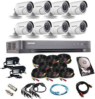 طقم كاميرا المراقبة سي سي تي في بدقة فل اتش دي 1080 بي 8 قنوات من هيكفيجن