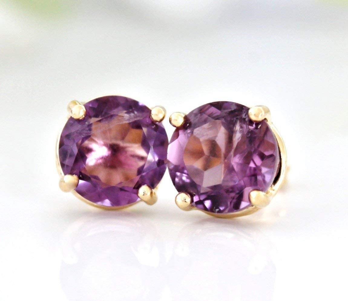 Free shipping El Paso Mall anywhere in the nation Amethyst Earrings February Birthstone Custom