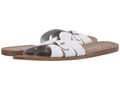 Salt Water Sandal by Hoy Shoes Classic Slide (Big Kid/Adult) (White) Girls Shoes