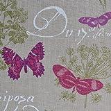 Leinenstoff | Schmetterling | Grundfarbe: Natur | 100%