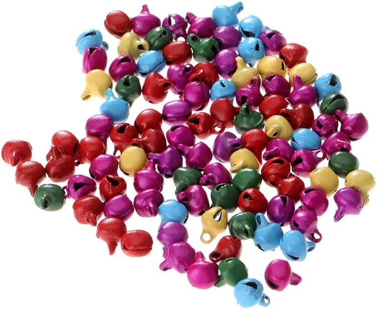 SCOLAND 100pcs Jingle Animer and price revision Bells Austin Mall Charms Iron Chri Random Colour Beads