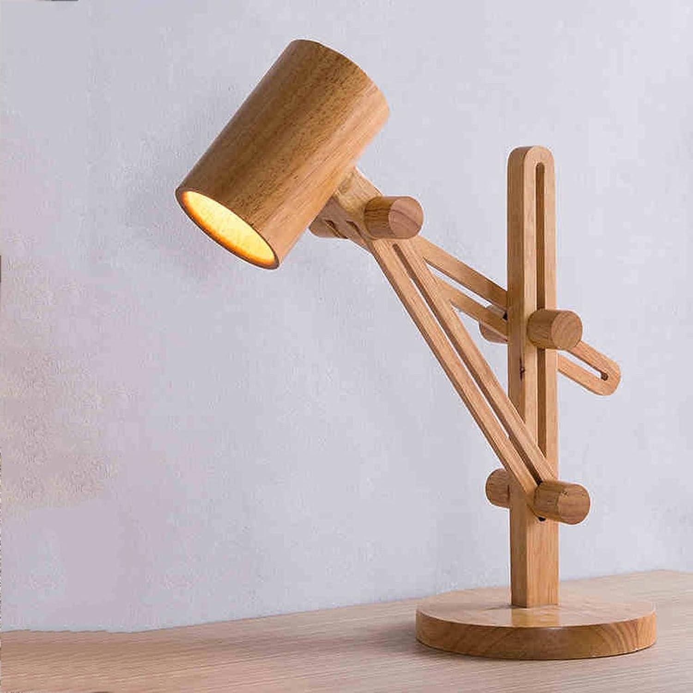 Skandinavische Lampe Nachttischlampe Verstellbarer langer Arm Moderne minimalistische Lampe Massivholzscheinwerfer Wohnzimmer Studie B07FMQKGLW     | Lebhaft und liebenswert
