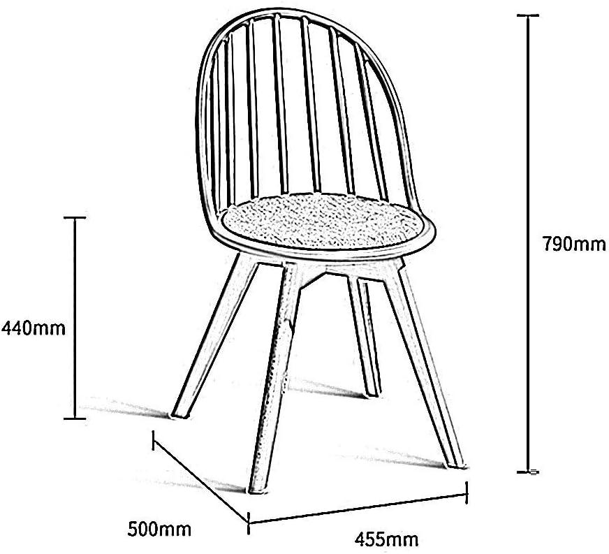 LLYU Dossier Accueil Loisirs moderne Chaise Chaise Barstool/Office Leisure, Dossier/Bois/Plastique PP, pour Café/Salon/Bureau/Salon/Salle à manger/Pub (Color : Gray) Blue