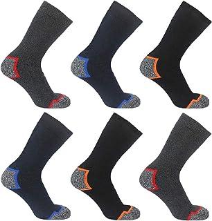 SMG® Mens 12 Pair Pack Reinforced Heel & Toe Thermal 2.0 Tog Heavy Duty Work Socks