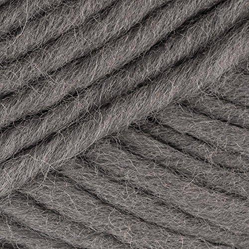 Filzi Ball von Garn, grau meliert, 50m, 50g