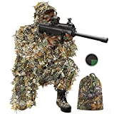 Best Ghillie Suits - AOIEORD Ghillie Suit for Men, 3D Leafy Ultra-Light Review