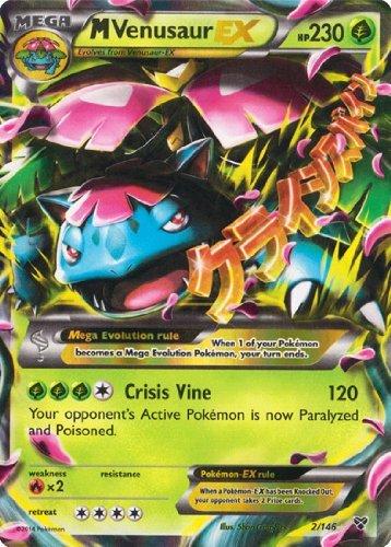 carte pokemon ex ultra rare Bestseller  M/Mega Venusaur EX (XY #2/146) Pokemon Card [Ultra