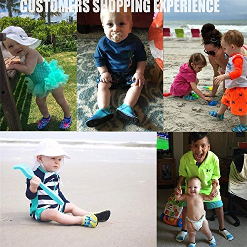 JIASUQI Summer Casual S   kin Water Shoes Socks for Baby,Sand Swim Surf Aerobics,Green Octopus 12-18 Months