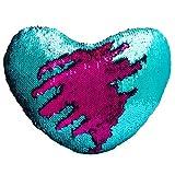 Cojín reversible de Dr Cosy con forma de corazón y diseño de cola de sirena en dos colores con...