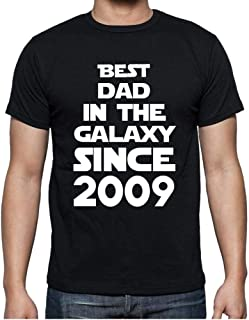 Ultrabasic® Men's Graphic T-Shirt Best Dad in The Galaxy Since 2009 Gift Idea