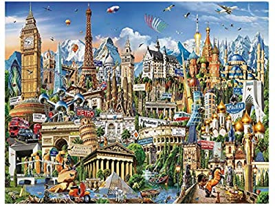 GuDoQi Jigsaw Puzzles 500 Piece Puzzles for Adults, Large Home Decor Family Puzzle Game Adult Toy, Landmark Puzzles by QBY