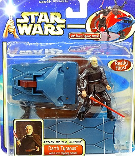 Hasbro Darth Tyranus with Force Flipping Action Attack of The Clones Star Wars Saga Collection 2003