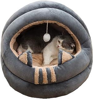 Queta, cuccia per gatti di medie dimensioni, adatta per gatti, gattini, cuccioli e cuccioli, una cuccia morbida e conforte...