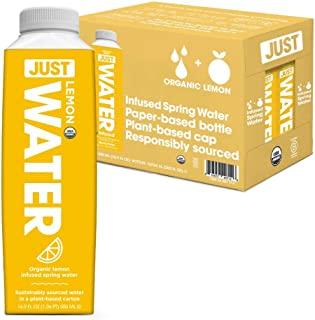 JUST Water Infused - Organic Fruit Flavored Spring Water - Eco-Friendly Boxed Bottled Water - Zero Sugar, Artificial Flavo...