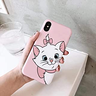 Maxlight Cute Pink Marie Cat Soft Silicone Phone Case for iPhone 7 8 Plus Love Cartoon Case for iPhone X XR XS MAX Cover Coque (Style1, for iPhone 7plus 8plus)