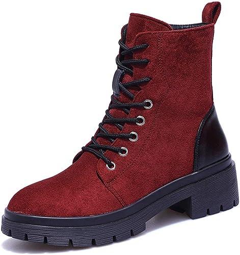 HPLL Zapato botas Martin para mujer, botas Cortas, zapatos de Motocicleta de otoño con Fondo Plano
