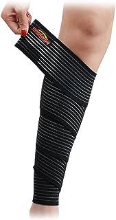COOLOMG 膝サポーター ふくらはぎ 太もも サポーター 肉離れ 男女兼用 靭帯保護 一枚入り (ブラック 200cm)
