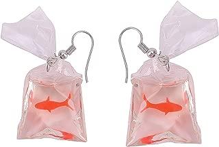 Funny Goldfish Earring – Funky Looking Earring – Attractive Funny Earrings – Classic Earring – Goldfish Earring – Water Bag Shaped Earring – Hook Earrings – Charm Jewelry for Women – Earrings for Ladi