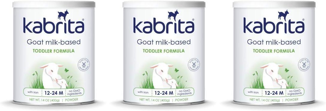 Kabrita Goat Milk-Based, Toddler Formula, 14 Ounce (Pack of 3)
