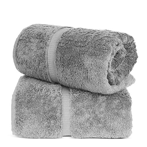 Turkuoise Turkish Towel % 100 Turkish Cotton Luxury and Super Soft Bath Sheets, 35x70 Inches (Gray)
