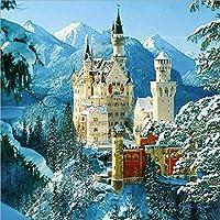 5Dダイヤモンドは大人のフルドリル雪のノイシュヴァンシュタイン城刺繍ラインストーンが家の壁の装飾絵画のためのキットを絵画
